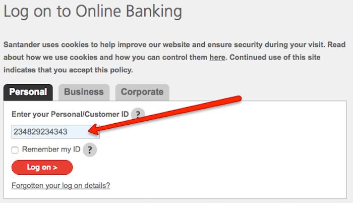 Cancel Santander online