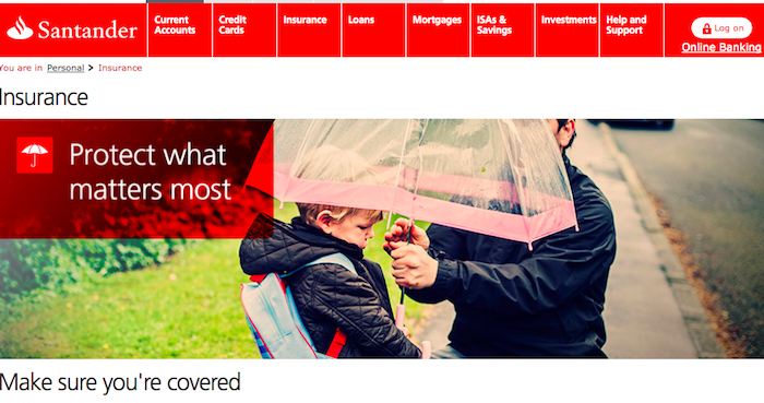 Santander UK insurance