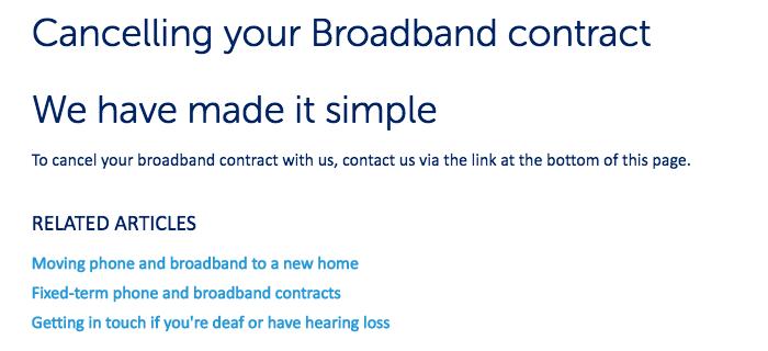 SSE Cancel Broadband
