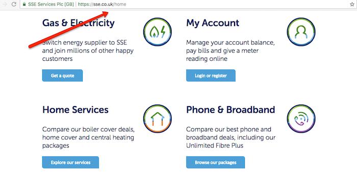 SSE UK Homepage