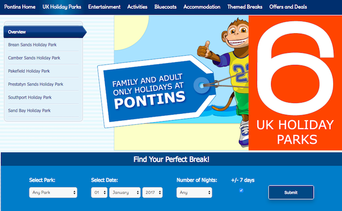 cancel pontins booking