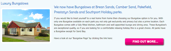 Pontins Luxury Bungalows