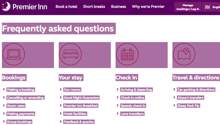 Premier Inn UK cancellation conditions