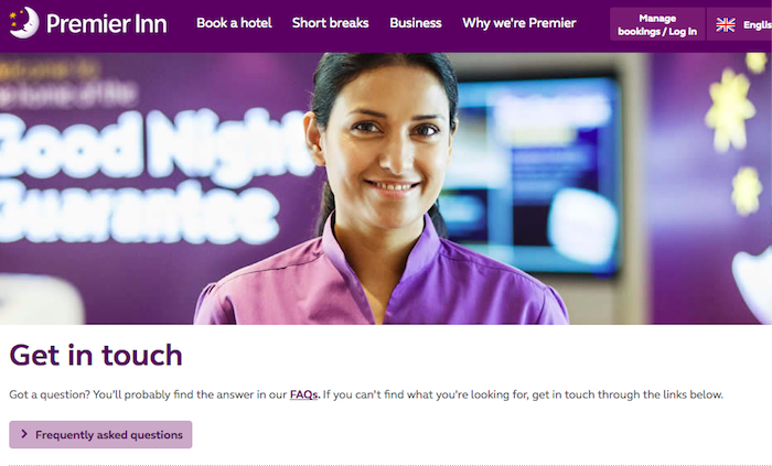 Premier Inn Get in touch