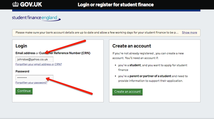 Student Finance Uk Login