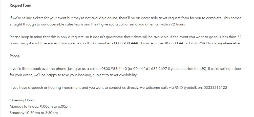 ticketmaster booking