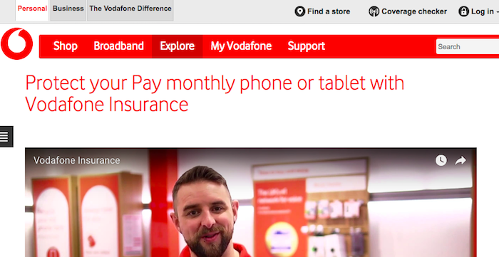 Cancel Vodafone insurance
