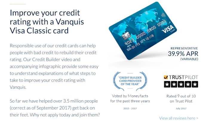 Vanquis Visa Classic Card