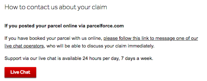Parcelforce Claiming Compensation