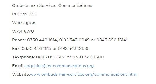 Lebara ombudsman service
