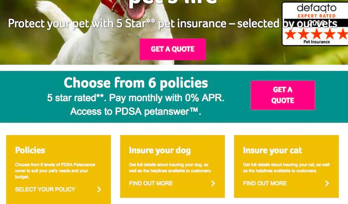 PDSA Pet Insurance Lifetime Cover
