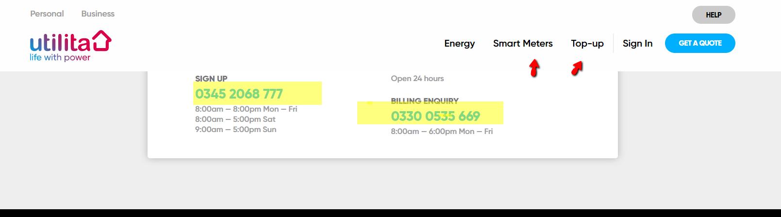 Utilita_energy_billing_number