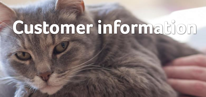 PDSA Customer Information