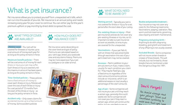 PDSA Insurance Types