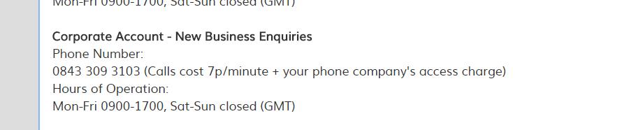 Hertz UK Corporate Contact number