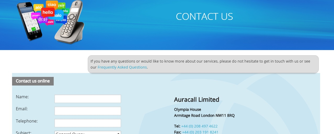 Auracall Customer Service