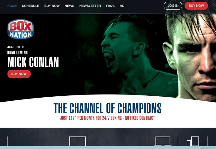 BoxNation website page