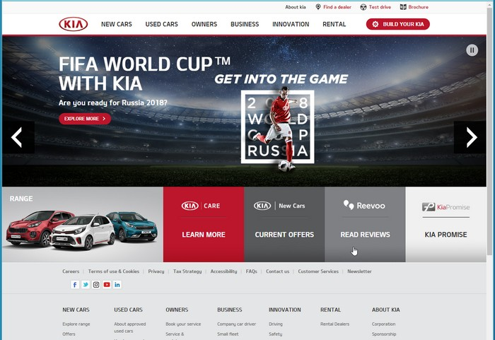 Kia Website