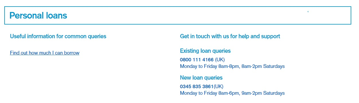 TSB personal loans contact