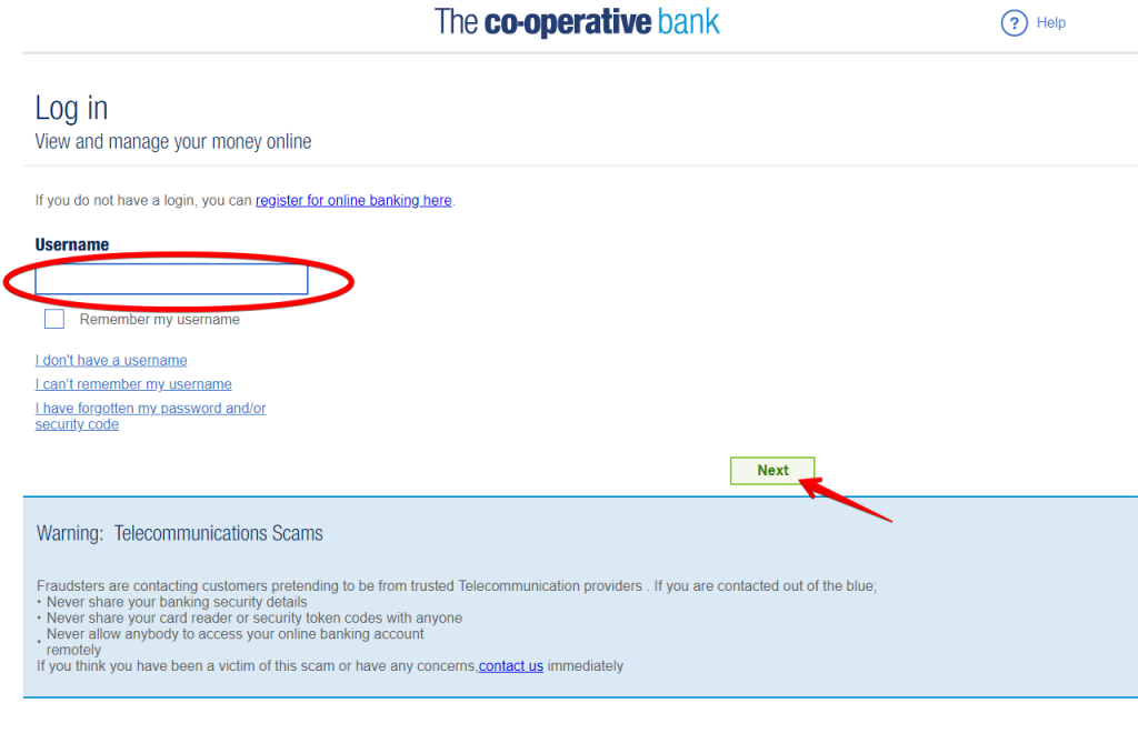 The Cooperative Bank UK login