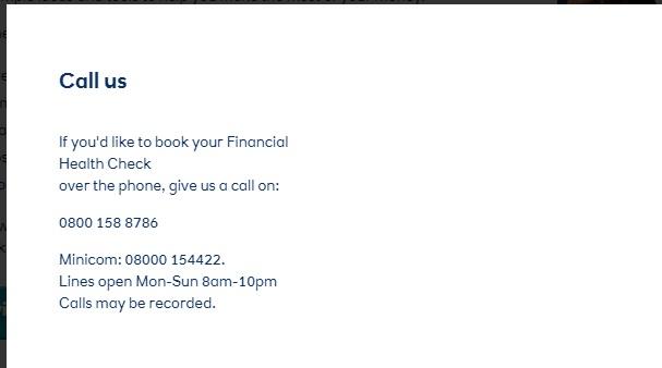 Ulster Bank UK Financial health contact
