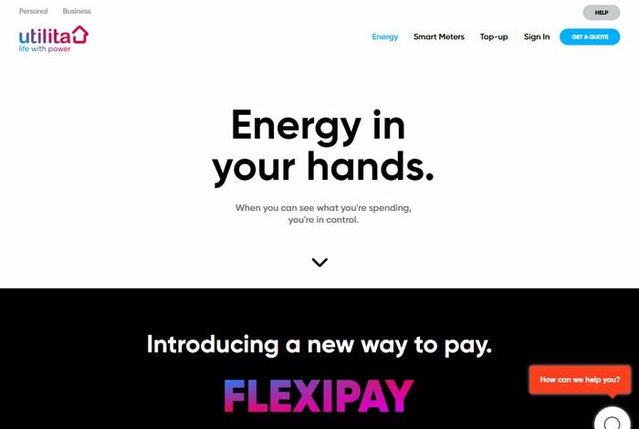 Utilita Energy main page