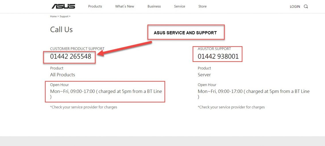 ASUS Customer Service And Support