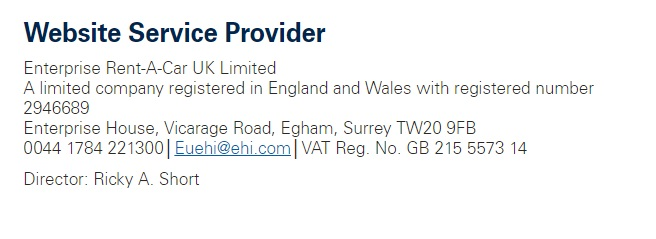 Alamo UK registered address