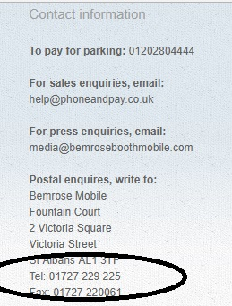 Phone and Pay UK postal contact