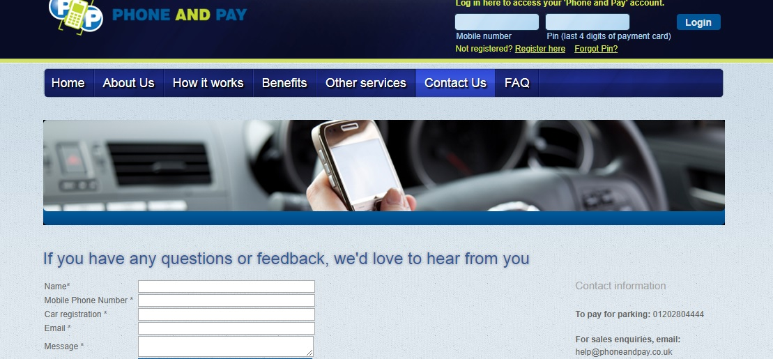 Phone and Pay customer service