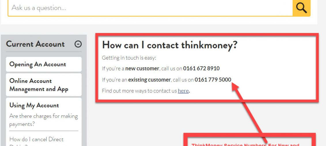 ThinkMoney Contact Number