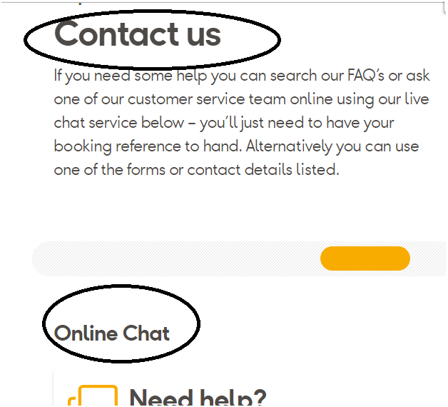 Thomas Cook online chat