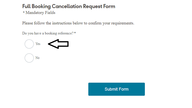 Booking Cancellation Request Form