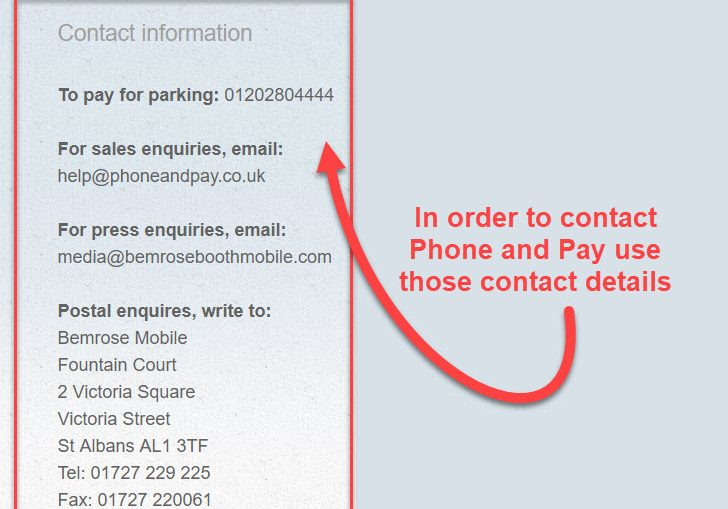 phone and pay contact
