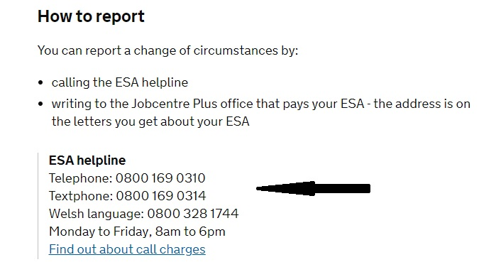 ESA Customers Contact Number - Free Phone: 0800 169 0310