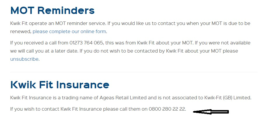 Kwik Fit UK insurance team