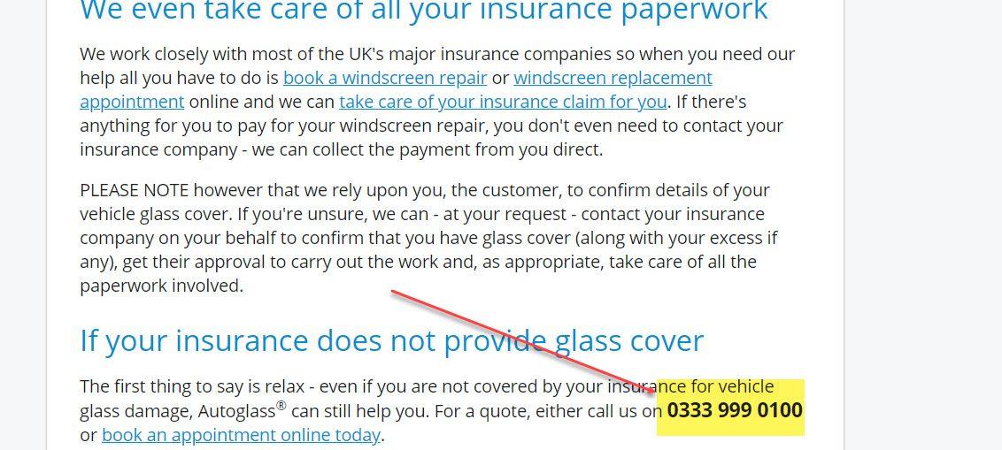 Autoglass Bedford UK Contact Number: 0333 999 0100