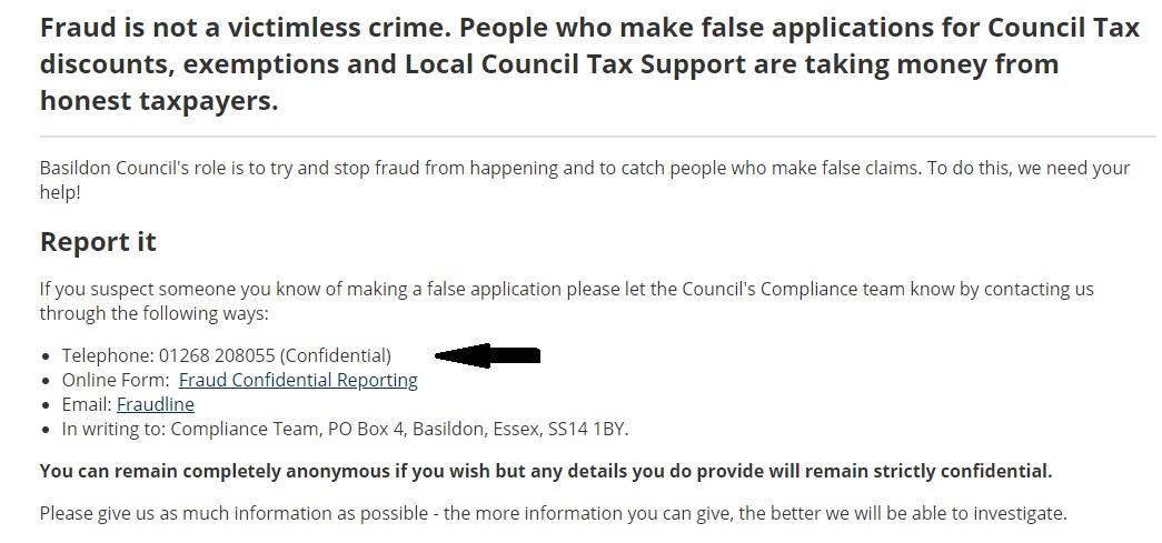Basildon Borough Council Contact