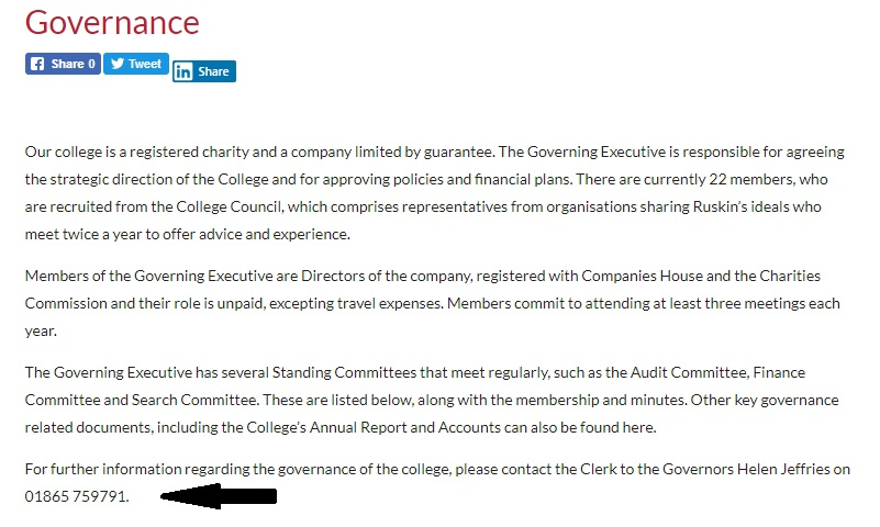 Ruskin College Governance